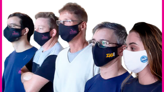 Máscaras de proteção, o acessório dos novos tempos.