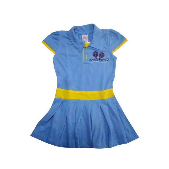 Vestido Polo - Convivência AZUL 01