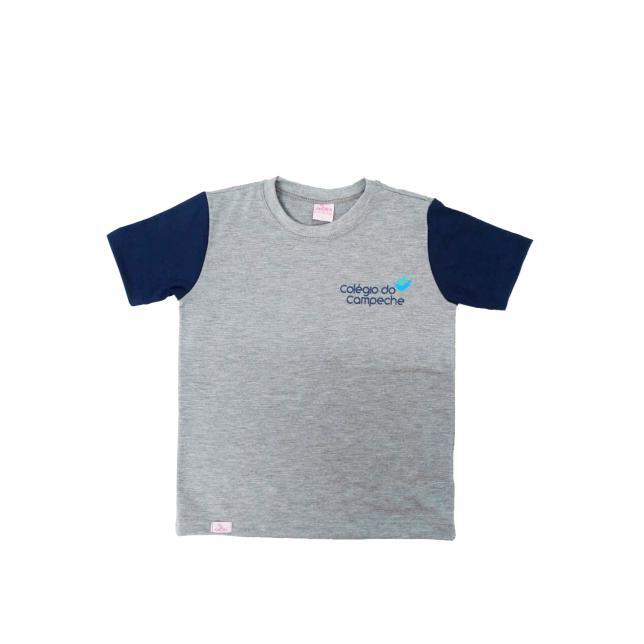 Camiseta Pv 2 Cores Manga Curta Col. Do Campeche CINZA 2
