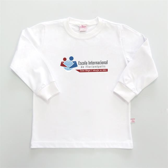 Camiseta Algodão Manga Longa EIF BRANCO 1