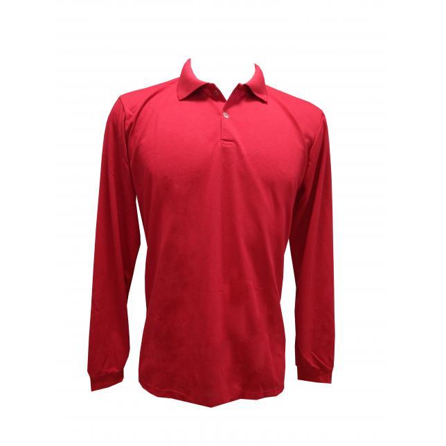 Camisa Polo Pique Pv Manga Longa VERMELHO 02-E G TECELAGEM GAUCHA