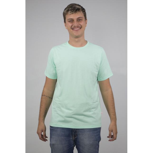 Ca 001 Camiseta Malha Pv Preto M/C   VERDE AGUA M CA 001