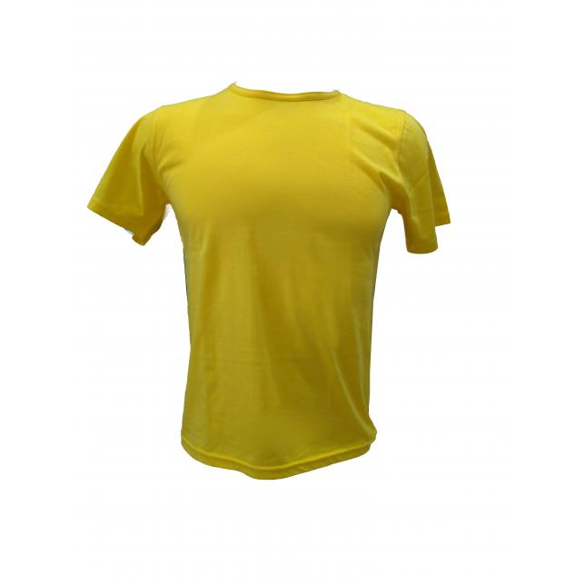 Camiseta Algodão Manga Curta  AMARELO PP CA 001