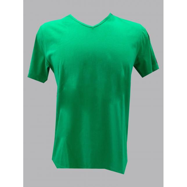 Camiseta Algodão Manga Curta  VERDE M CA 001