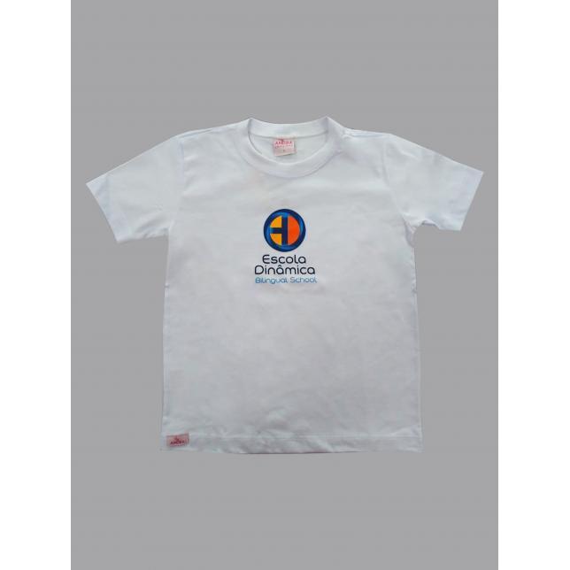 Camiseta Algodão Manga Curta Dinâmica BRANCO 2