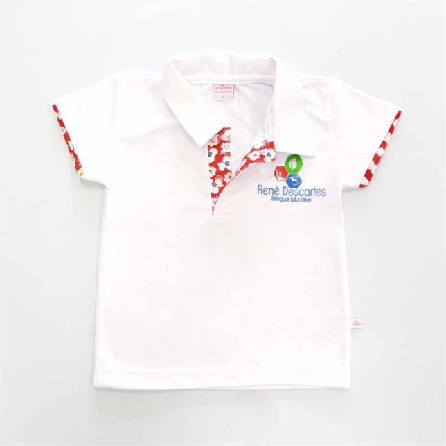 Camisa Polo Pique PV Manga Curta Renê Descartes BRANCO 6