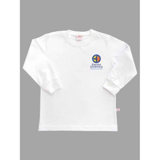 Camiseta Algodão Manga Longa Dinâmica BRANCO 1