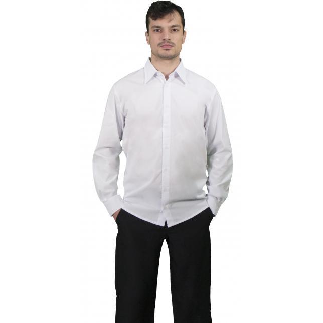 Camisa Social Masculina Ibiza Manga Longa  BRANCO PP
