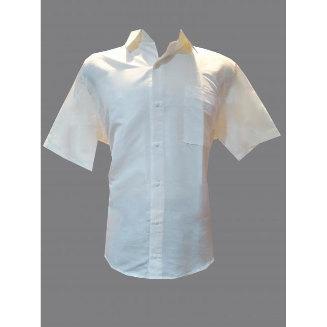 Camisa Social Masculina Tricoline Manga Curta BRANCO G CAS 001