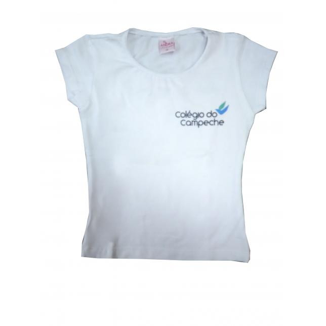 Baby Look Cotton Manga Curta Col. Do Campeche BRANCO P