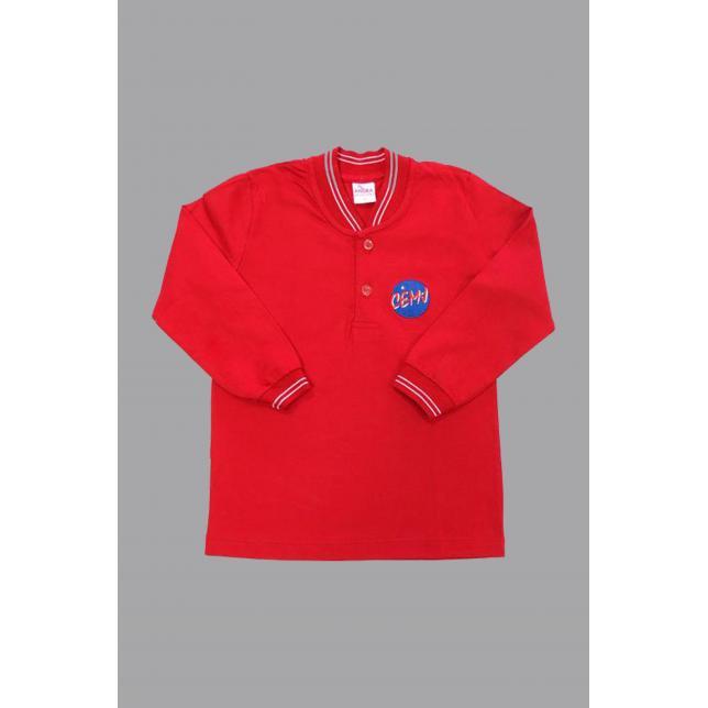 Camisa Polo Algodão Manga Longa Cemj VERMELHO 1 CAP 006