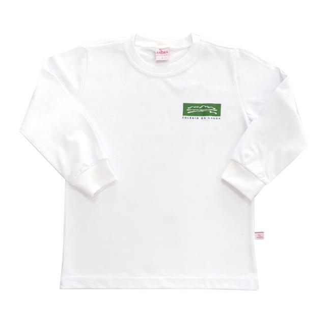 Camiseta Algodão Manga longa Col. Da Lagoa BCO 1