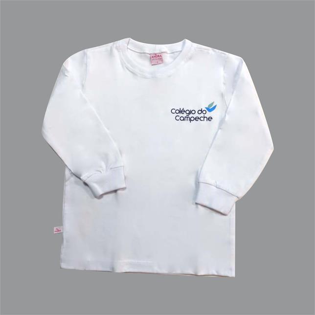 Camiseta Algodão manga Longa Col. Do Campeche BRANCO 1