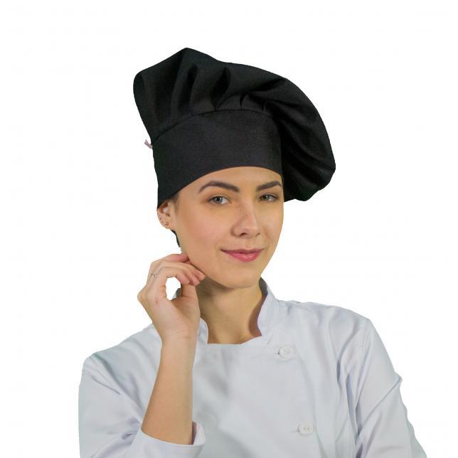 Touca De Chef Oxford Preto PRETO