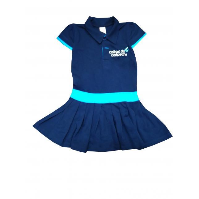 Vestido Polo - Colégio Do Campeche MARINHO 01
