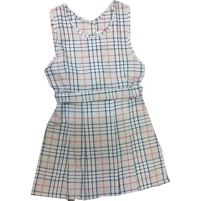 Vestido Regata Xadrez - Sociesc CINZA 10