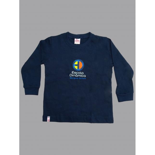 Camiseta Fio30 Marinho M/L M Dinamica MARINHO 1
