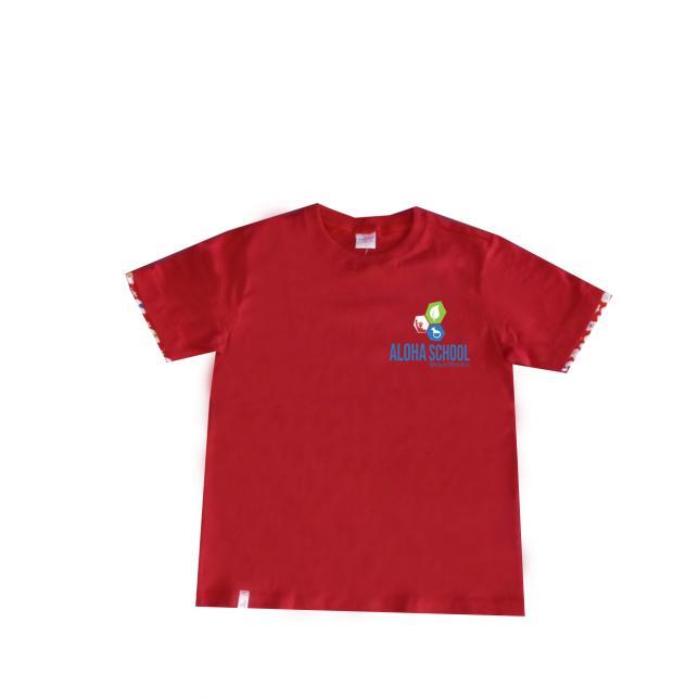 Camiseta Fio 30 M/C Vermelha - Aloha  VERMELHO 2