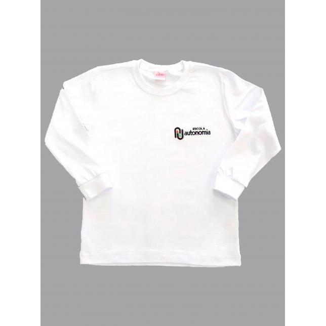 Camiseta Algodão Manga Longa Autonomia BRANCO 6