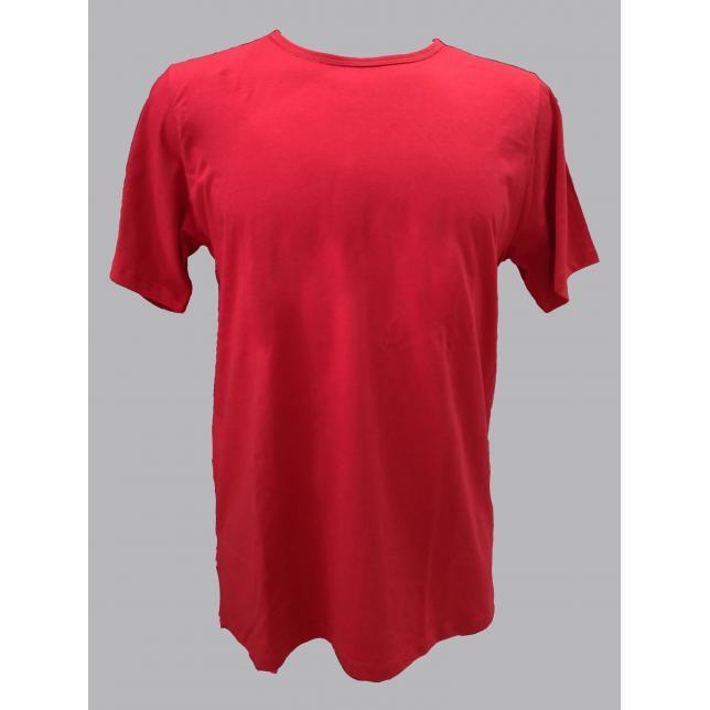 Ca 001 Camiseta Malha Pv Preto M/C   VERMELHO PP DOPTEX 5181-ESP VERMELHO