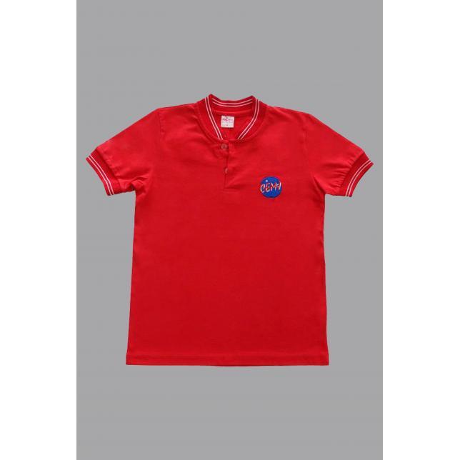 Camisa Polo Algodão Manga Curta Cemj VERMELHO 0 CAP 005