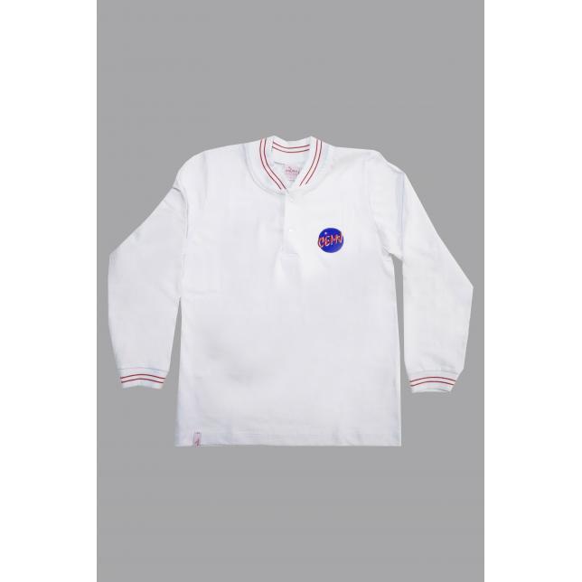 Camisa Polo Algodão Manga Longa Cemj BRANCO 6 CAP 006