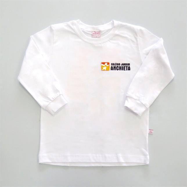Camiseta Algodão Manga Longa Col. Jardim Anchieta BRANCO 1