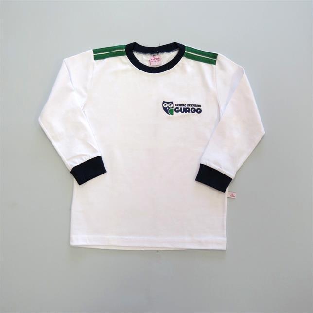 Camiseta Algodão Manga Longa Guroo BRANCO 2