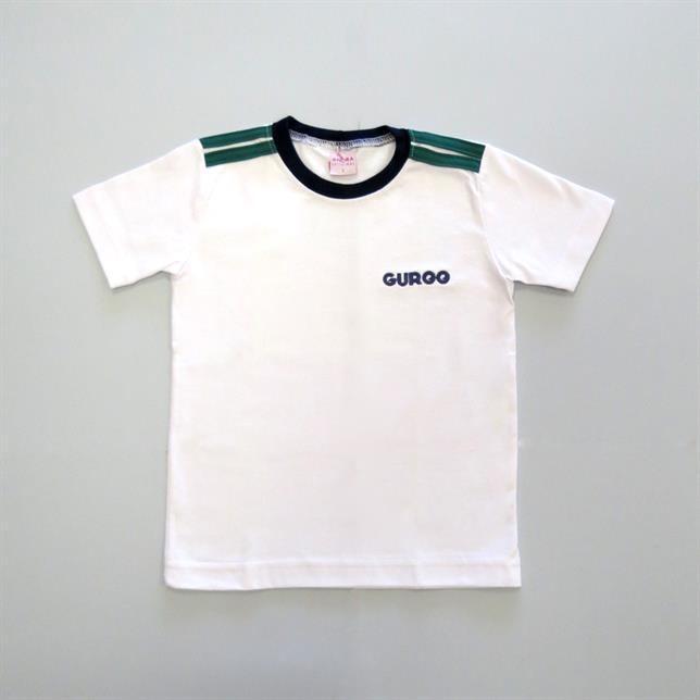 Camiseta Algodão Manga Curta Guroo BRANCO 2