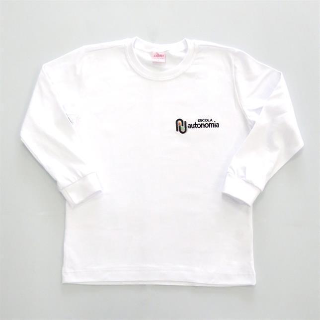 Camiseta Algodão Manga Longa Autonomia BRANCO 4