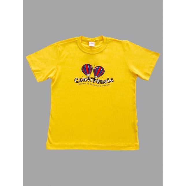 Camiseta Pv Manga Curta Convivência AMARELO 1