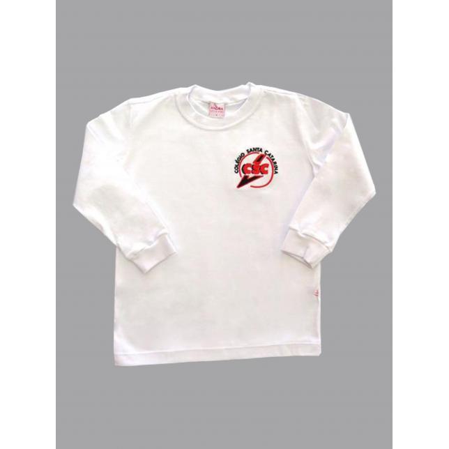 Camiseta Algodão Manga Longa Col. Santa Catarina BRANCO 4