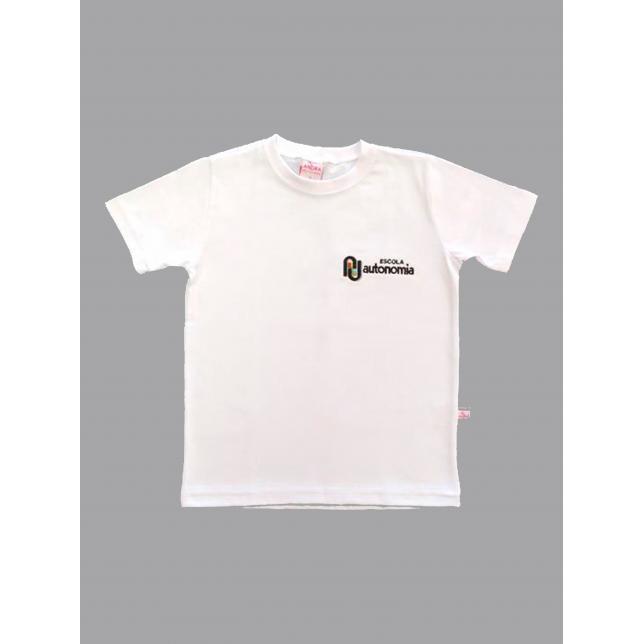 Camiseta Algodão Manga Curta Autonomia BRANCO XGG