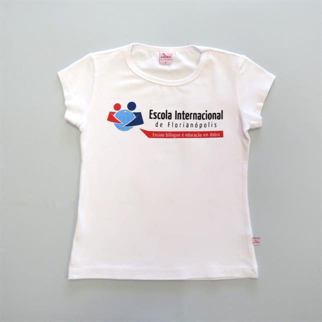 Baby Look Algodão Manga Curta EIF BRANCO P